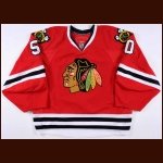 2011-12 Corey Crawford Chicago Blackhawks Game Worn Jersey - Photo Match – Team Letter