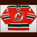 1980's Dan Dorion New Jersey Devils Game Worn Jersey