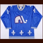 1979-80 Pierre Plante Quebec Nordiques Game Worn Jersey - Inaugural NHL Season - Photo Match