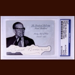 Frank Buckland Autographed Card - The Broderick Collection - Deceased