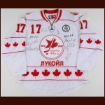 Bill White 2012 Russian Reunion Jersey  - Autographed by 9 Russian Players – The Bill White Collection – Bill White Letter