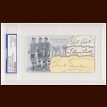 The Bread Line Autographed Card - Frank Boucher, Bill Cook, Bun Cook - The Broderick Collection - Deceased
