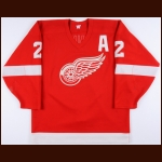 1987-88 Mike O'Connell Detroit Red Wings Game Worn Jersey