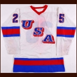 1980 Buzz Schneider Team USA Pre-Olympic Game Worn Jersey - The St. Paul, Minnesota Collection - Miracle On Ice Alum