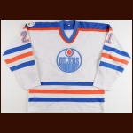 "1982-83 Randy Gregg Edmonton Oilers Stanley Cup Finals Game Worn Jersey – Rookie - ""Universiade"" - Photo Match – Team Letter"