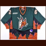 1999-00 Mike Sullivan Phoenix Coyotes Game Worn Jersey – Alternate – Team Letter