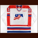 1988 Kevin Stevens Team USA Pre-Olympics Game Worn Jersey