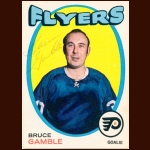 1971-72 OPC Bruce Gamble Philadelphia Flyers Autographed Card – Deceased