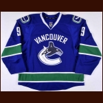 2012-13 Zack Kassian Vancouver Canucks Game Worn Jersey - Photo Match – Team Letter