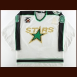 "1991-92 Bobby Smith Minnesota North Stars Game Worn Jersey – ""25-year Anniversary"" - 1000th Point & 1000th Game Season"