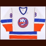 1983-84 Pat Flatley New York Islanders Stanley Cup Finals Game Worn Jersey – Rookie - Photo Match - Bossy & Flatley Autographs