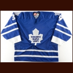 1997-98 Kelly Chase Toronto Maple Leafs Pre-Season Game Worn Jersey – King Clancy – Brett Hull Letter