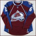 2007-08 Paul Stastny Colorado Avalanche Game Worn Jersey - 2nd NHL Season - 100th NHL Point - Team Letter