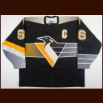 1995-96 Mario Lemieux Pittsburgh Penguins Game Worn Jersey – Alternate - Last 5-Goal Game of Career - Hart Memorial Trophy - Art Ross Trophy - Ted Lindsay Award - 1st Team NHL All Star - Photo Match - Video Match
