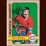 1972-73 Topps  #57 Guy Lapointe Canadiens - Autographed