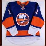 2008-09 Andy Hilbert New York Islanders Game Worn Jersey - Team Letter