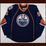 "2008-09 Patrick O'Sullivan Edmonton Oilers Game Worn Jersey – ""30-year Anniversary"" - Photo Match – Team Letter"