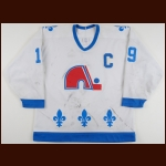 1990-91 Joe Sakic Quebec Nordiques Game Worn Jersey - Photo Match