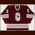 "1985-86 Florent Robidoux Hershey Bears Game Worn Jersey – ""31"" – ""50-year AHL"""