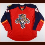 2015-16 Quinton Howden Florida Panthers Game Worn Jersey - Photo Match