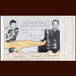 Bobby and Father David Bauer Autographed Card - The Broderick Collection - Deceased