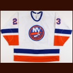 1993-95 Vladimir Malakhov New York Islanders Game Worn Jersey - Retired #23 - Photo Match
