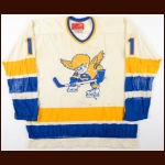 1974-76 Perry Miller & Murray Heatley WHA Minnesota Fighting Saints Game Worn Jersey