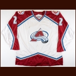 1995-96 Claude Lemieux Colorado Avalanche Game Worn Jersey - Inaugural Season - Stanley Cup Season - Photo Match