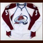 2008-09 Brett Clark Colorado Avalanche Game Worn Jersey - Photo Match - Team Letter