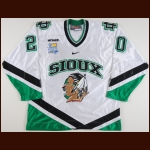 "2007-08 Matt Watkins University of North Dakota Game Worn Jersey – ""2008 Denver Frozen Four"" – ""University of North Dakota 125-year Anniversary"" - Photo Match – Team Letter"