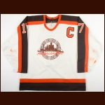 1990-91 Paul Mitton Detroit Compuware Ambassadors Game Worn Jersey - Inaugural Season