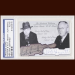 W.A Hewitt & Foster Hewitt Autographed Card - The Broderick Collection - Deceased