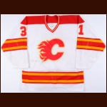 1987-89 Rick Wamsley Calgary Flames Game Worn Jersey - Stanley Cup Season – The Rick Wamsley Collection – Rick Wamsley Letter