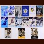 Pittsburgh Penguins Media Guide Lot of 15 – 1968-69 through 1982-83