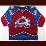 1997-98 Alexei Gusarov Colorado Avalanche Game Worn Jersey