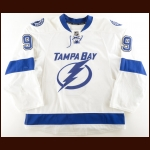 2015-16 Tyler Johnson Tampa Bay Lightning Game Worn Jersey – Photo Match – Team Letter