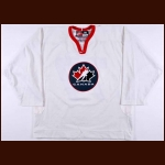 "2002 Pierre Turgeon Team Canada Olympics Training Camp Worn Jersey - ""Respect"""