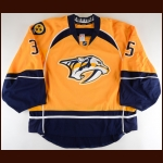 2016-17 Pekka Rinne Nashville Predators Game Worn Jersey - Photo Match – Team Letter