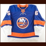 2017-18 Tanner Fritz New York Islanders Game Worn Jersey – Rookie – 1st NHL Game – Photo Match – Team Letter