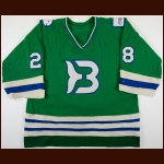 "1986-87 Marc Laforge Binghamton Whalers Game Worn Jersey – ""50-Year AHL Anniversary"" - Debut Professional Jersey"