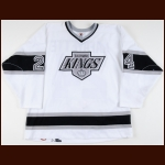 1997-98 Nathan Lafayette Los Angeles Kings Game Worn Jersey - Photo Match