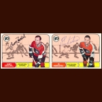 1968-69 Topps Philadelphia Flyers Autographed Card Group of 10 – Larry Zeidel & Ed Hoekstra (Deceased)