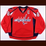 2009-10 Alex Ovechkin Washington Capitals Game Worn Jersey - 50-Goal & 100-Point Season - 1st Team NHL All Star - Ted Lindsay Award - Photo Matched – Team Letter