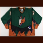 1998-99 Greg Adams Phoenix Coyotes Game Worn Jersey – Alternate – Team Letter