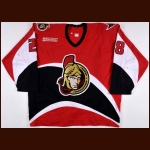 1999-01 Todd White & Joe Juneau Ottawa Senators Game Worn Jersey