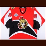 2006-07 Tom Preissing Ottawa Senators Stanley Cup Finals Game Worn Jersey – Team Letter