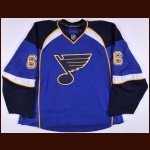 2007-08 Erik Johnson St. Louis Blues Game Worn Jersey – Rookie