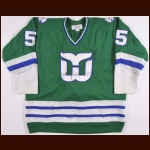 1980-81 Mark Howe Hartford Whalers Game Worn Jersey - Photo Match – All Star Season - The New England Collection