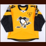 "2016-17 Chris Kunitz Pittsburgh Penguins Game Worn Jersey – 2017 Stadium Series – ""2017 Stadium Series Pittsburgh"" – ""City of Champions"" - Stanley Cup Season - Photo Match – Team Letter"