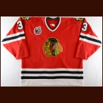 1992-93 Craig Muni Chicago Blackhawks Game Worn Jersey
